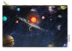 Carry-all Pouch featuring the digital art Solar System by Gina Dsgn