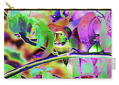 Carry-all Pouch featuring the photograph Solarized Hummer by Wendy McKennon