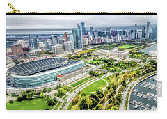 Soldier Field Chicago Skyline Carry-all Pouch