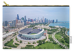 Carry-all Pouch featuring the photograph Soldier Field by Sebastian Musial