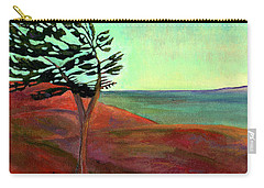 Carry-all Pouch featuring the painting Solitary Pine by Claire Bull