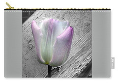 Solitary Pink Whisper Tulip Carry-all Pouch