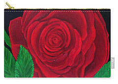 Solitary Red Rose Carry-all Pouch