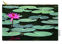 Carry-all Pouch featuring the photograph Solitary Water Lily by Laurel Talabere
