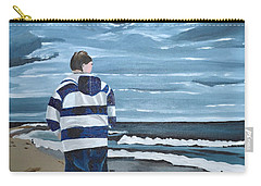 Carry-all Pouch featuring the painting Solitude by Donna Blossom