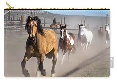 Sombrero Ranch Horse Drive At The Corrals Carry-all Pouch