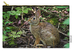 Carry-all Pouch featuring the photograph Some Bunny Stopped By by Bill Pevlor
