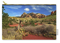 Some Cactus In Sedona Carry-all Pouch by James Eddy