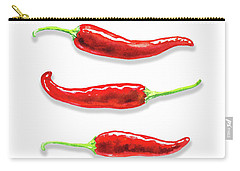 Carry-all Pouch featuring the painting Some Likes It Hot Red Chili  by Irina Sztukowski