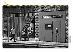 Somebody's Watching Me In Black And White Carry-all Pouch