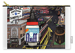 Carry-all Pouch featuring the drawing A Strange Day In Somerville  by Richie Montgomery