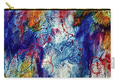 Carry-all Pouch featuring the painting Something Wild by Tracy Bonin