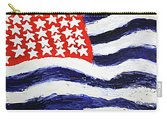 Carry-all Pouch featuring the painting Something's Wrong With America by Thomas Blood