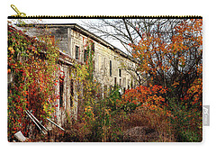 Somewhere In Rhode Island - Abandoned Mill 001 Carry-all Pouch by Lon Casler Bixby