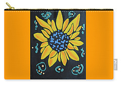 Carry-all Pouch featuring the painting Son Flower by Deborah Boyd