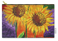 Carry-all Pouch featuring the painting Sonflowers I by Holly Carmichael