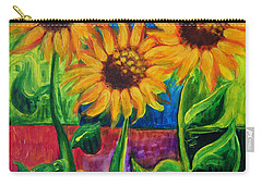 Carry-all Pouch featuring the painting Sonflowers II by Holly Carmichael