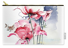 Carry-all Pouch featuring the painting Song About The Earth by Anna Ewa Miarczynska
