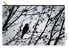 Carry-all Pouch featuring the photograph Song Bird Silhouette by Terry DeLuco