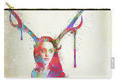 Carry-all Pouch featuring the digital art Song Of Elen Of The Ways Antlered Goddess by Nikki Marie Smith