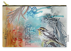 Carry-all Pouch featuring the mixed media Song Of Life  by Rose Legge