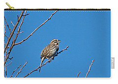 Carry-all Pouch featuring the photograph Song Sparrow by Michael Peychich