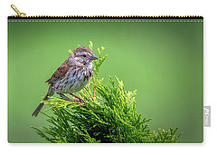 Song Sparrow Perched - Melospiza Melodia Carry-all Pouch