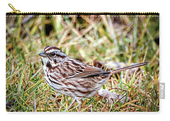 Carry-all Pouch featuring the photograph Song Sparrow Sweetie by Kerri Farley