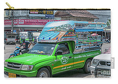 Carry-all Pouch featuring the photograph Songthaew Minibus by Antony McAulay