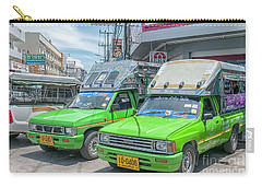 Carry-all Pouch featuring the photograph Songthaew Taxi by Antony McAulay