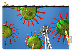 Carry-all Pouch featuring the photograph Sonic Bloom In Seattle Center by Adam Romanowicz