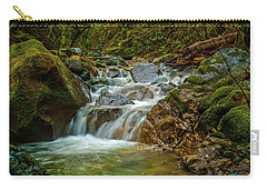 Carry-all Pouch featuring the photograph Sonoma Valley Creek by Bill Gallagher
