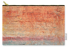 Sonoran Desert #1 Southwest Vertical Landscape Original Fine Art Acrylic On Canvas Carry-all Pouch