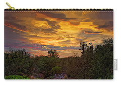 Carry-all Pouch featuring the photograph Sonoran Sonata H01 by Mark Myhaver