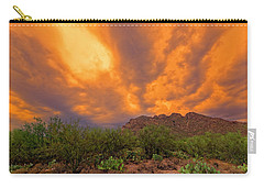 Carry-all Pouch featuring the photograph Sonoran Sonata H16 by Mark Myhaver