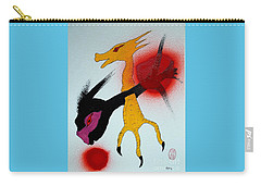 Carry-all Pouch featuring the painting Sonzai No Tame Ni Tatakau Tane by Pg Reproductions