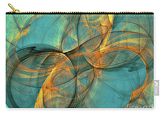 Carry-all Pouch featuring the digital art Soothing Blue by Deborah Benoit
