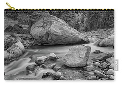 Soothing Colorado Monochrome Wilderness Carry-all Pouch by James BO Insogna