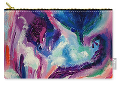 Carry-all Pouch featuring the painting Soothing  Garden by Diane Pape