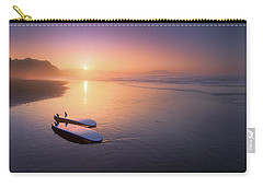 Sopelana Beach With Surfboards On The Shore Carry-all Pouch