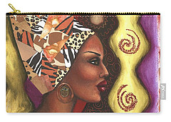 Carry-all Pouch featuring the mixed media Sophisticated Safari by Alga Washington
