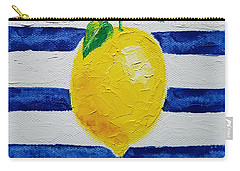 Carry-all Pouch featuring the painting Sorrento Lemon by Judith Rhue