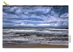 Carry-all Pouch featuring the photograph Sotto Il Maestrale Urla E Biancheggia Il Mar by Enrico Pelos