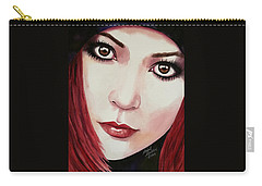 Carry-all Pouch featuring the painting Soul Sister by Michal Madison