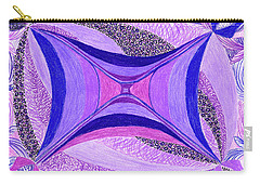 Carry-all Pouch featuring the drawing Soulviolet by Kim Sy Ok