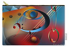 Sound Of Bass Guitar Carry-all Pouch by Leo Symon