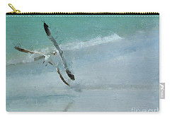Carry-all Pouch featuring the photograph Sound Of Seagulls by Claire Bull