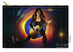 Carry-all Pouch featuring the digital art Sound Waves by Shadowlea Is