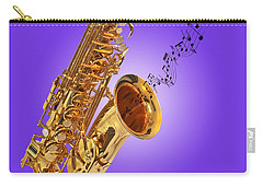 Sounds Of The Sax In Purple Carry-all Pouch