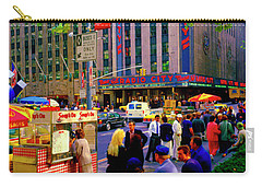 Carry-all Pouch featuring the photograph Soups On Radio City Music Hall  by Tom Jelen